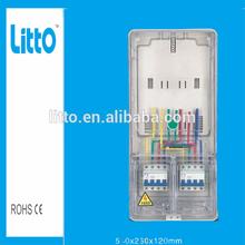 three phase plastic transparent electric kwh meter box