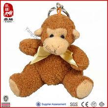 Wholesale New Product Plush Soft Animal Stuffed Keychain Monkey