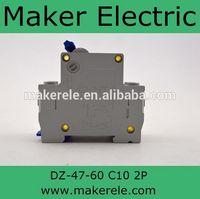 DZ47-60 2P C10 screw circuit breaker(fuse)