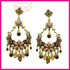 Hot fashion ethnic style big butterfly shaped dangle earrings
