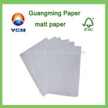 matt art paper/matt paper/White Bond paper for offset printing