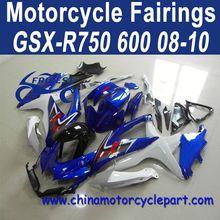 100% Fitment For Suzuki 08 09 10 gsxr 750 k8 Fairing Kit Blue FFKSU005