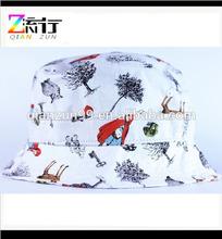 2014 Cheap price children size white floral buckets hats no minimum