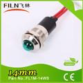 14mm 24v de bajo voltaje led indicador con alambre