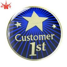 Gold Epoxy Badge Metal Button Badge