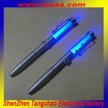 2014 new wholesale custom metal led ballpoint pen