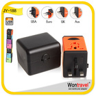 JY-188 South America Travel adaptor with Surge Protector