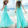 2014 summer plus size dress for pregnant women solid color sleeveless chiffon dress maternity long loose maxi dress