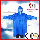 waterproof riding hooded cycle zipper rain poncho with sleeve