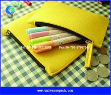 Yellow felt children bag for pen