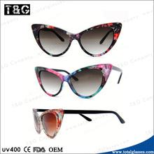 Woman cat tip eye sun glasses China Hot selling promotonal eyewear