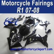 Wholesale 07 08 For Yamaha R1 Motorcycle Fairings Cheap Gloss Black Gold Decals FFKYA005