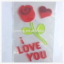 TPR Stickers Rose Flower Window Sticker