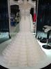 3/4 Long Sleeve White Lace european wedding dress with jacket