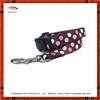 Pink and brown polka dots ribbon dog leashes