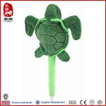 mini green tortoise plush pen promotional sea tortoise pen