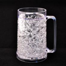 China Shenzhen Bottle Manufacture flashing ice mug,plastic ice beer mug,frosty plastic mug cup