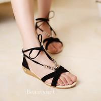 women sandals flat heel sweet summer single shoes soft bottom girls sandals slippers