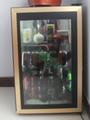 2014 nova moda refrigerador porta de vidro/vertical freezer mostrar para o supermercado