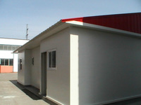 Flat roof steel structure prefabricated container house