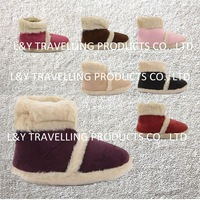 NEW LADIES WARM MICROSUEDE FURRY SOFT FLUFFY SLIPPERS BOOTS