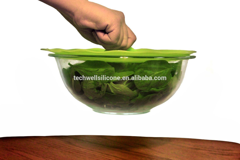 FDA&LFGB factory wholesaler dia 31.5cm food grade Anti dust watertight silicone pot cover lid