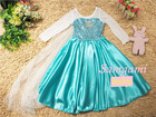 latest designer girls frozen elsa princess party dress kids elsa wedding dress girls formal dress
