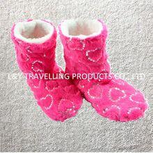 New Ladies Women Sequins Christmas Winter Indoor Slipper boots Socks Shoes