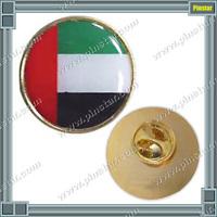 Cheap Price United Arab Emirates Hat Lapel Pin Collar Badge Abu Dhabi UAE Flag Pin Button Badge