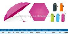 Promotional UV 5 Folding Rain Umbrella China Wholesale Portable Tiny Umbrella / Small cheap price super mini umbrella