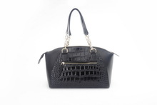 elegant color combination waxed canvas handbag Female New Fashion PU Bag