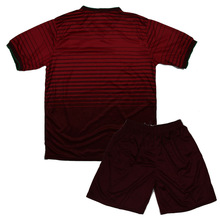 In Stock 2014 Newest Portugal's Red Home Jerseys Shorts Soccer Sets