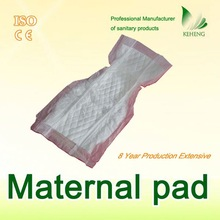 low cost changing embossed adult maternal inner pad with leakguards bulk