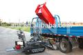 Auto- descarga de mini dumper sobre orugas/frming tractor/camión de estiércol/carretilla de alimentación/mini dumper/by800, con el ce, 800kg peso de carga