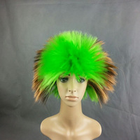Hot sale Light Green Fuzzy Afro Funny Wig Adult Halloween Costume Accessory