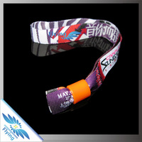 Promotional Cheap Plastic Clip Woven memorial wristband