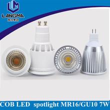 White aluminum cob 600lm spotlight 7w gu10 led osram