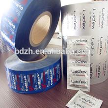 customized hot blue candom aluminum film/pouch