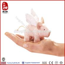 Mini winged piglet finger puppet plush animal toy pig finger puppet