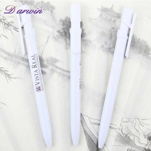 Cheap promotional white pen with company logo