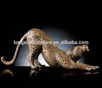 High Quality Wholesale Life Size Leopard Bronze Sculpture