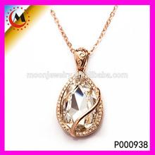 P000938 gros chine élégante cristal de naissance anneau pendentif