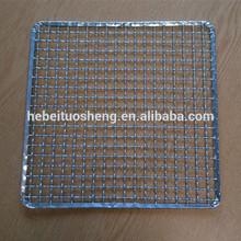 Galvanized barbecue grill mesh/Crimped BBQ grill mesh/BBQ wire mesh