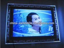 Clear LED acrylic sign display frames
