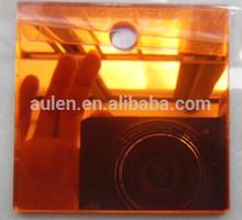 amber acrylic/pmma/plexiglass mirror sheet