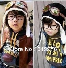 100% wool baby hat children winter pilot hat / baseball cap winter baby boy flying cap child hat warm ear Peas JPHATMZ0200