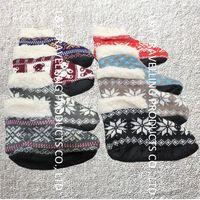 New Ladies Girls Knitted Lined Anti Slip/Skid Indoor Ankle Boot Slipper Socks non slip ankle socks