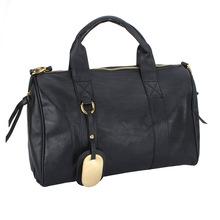 New Fashion Women's Handbag PU Leather Handbag Gold Rivet Tote Shoulder Messenger Bag Purse Hobo Black Brown