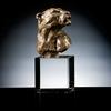 Modern Art Bronze Leopard Head Statue for Sale