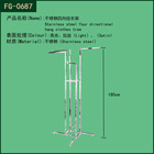 Fashion boutique stainless steel clothes display rack shop fittings system
